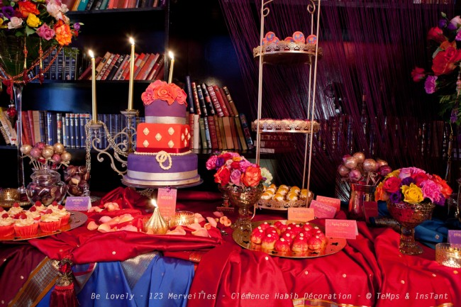 sweet table bollywood 1er anniversaire de my cwc. Black Bedroom Furniture Sets. Home Design Ideas