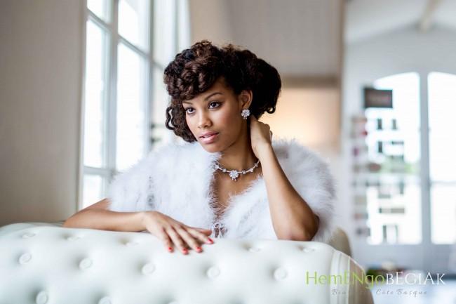 coiffure mariage mariée afro