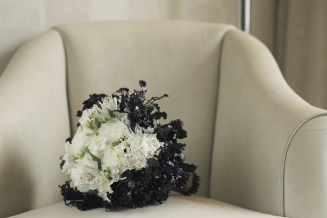 bouquet noir et blanc blog mariage