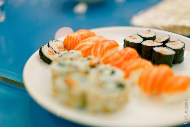Enterrement de vie de jeune fille sushi party