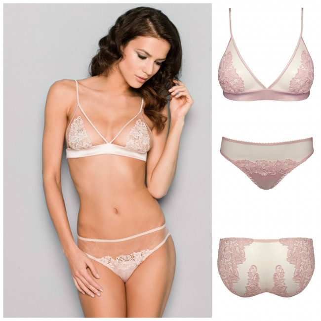 Lingerie mariage sexy chic poudre