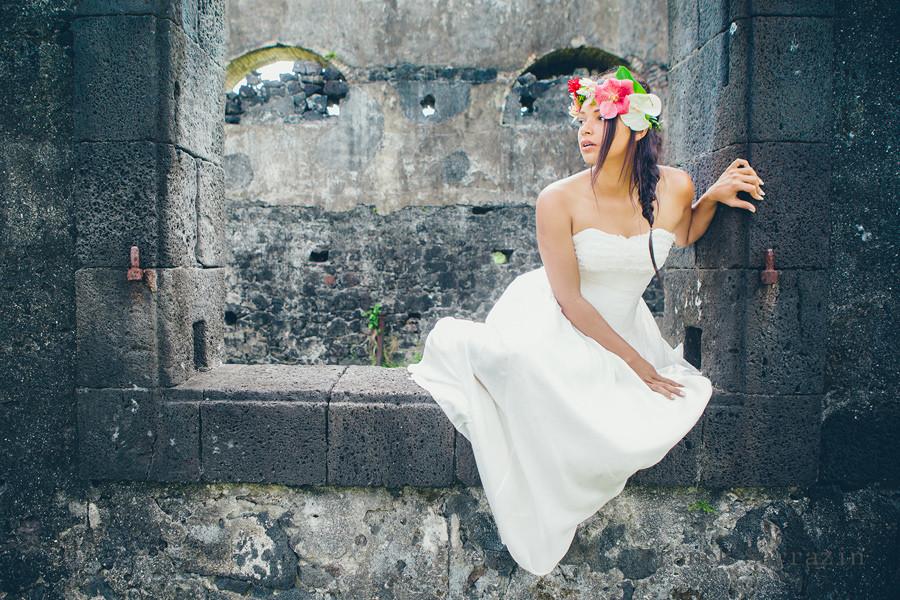 Mariage tropical chic la r union par zot mariage blog for Robes de renouvellement de voeux de mariage taille plus