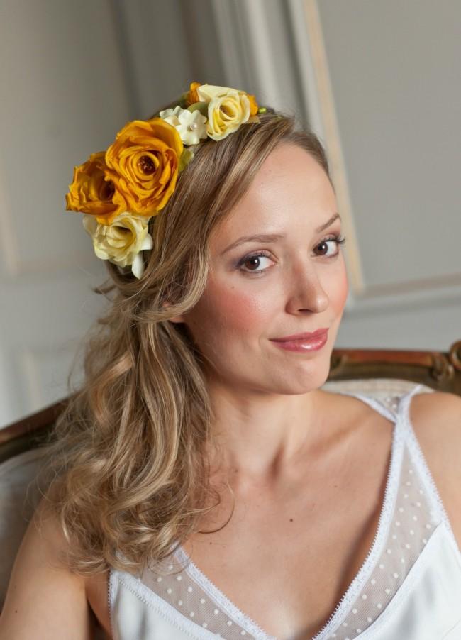 couronne-fleurs-rose-soie-mari+®e-boh+¬me
