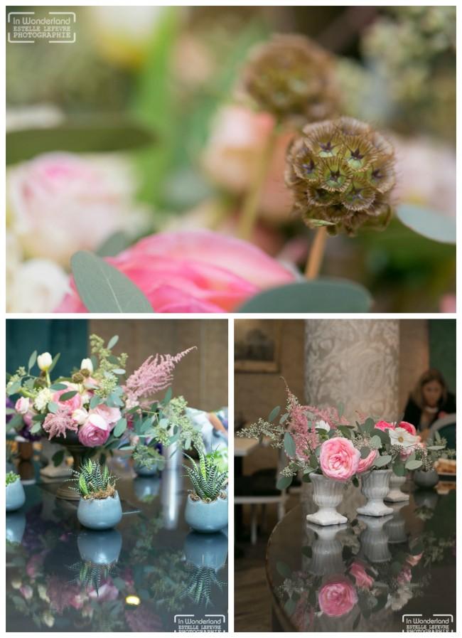 fleur centre de table mariage